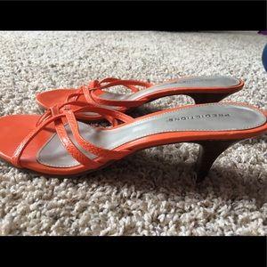 Orange low heels